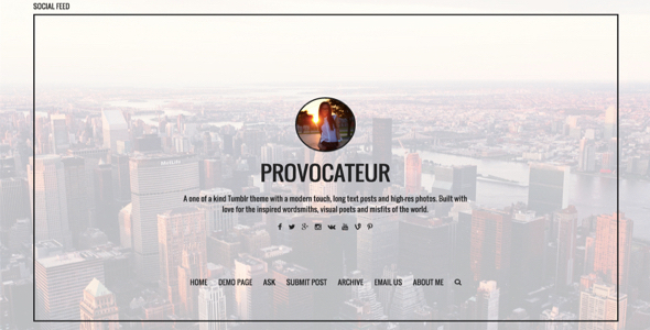 Provocateur Blogging Tumblr Theme (Tumblr) Provocateur Blogging Tumblr Theme (Tumblr) header white