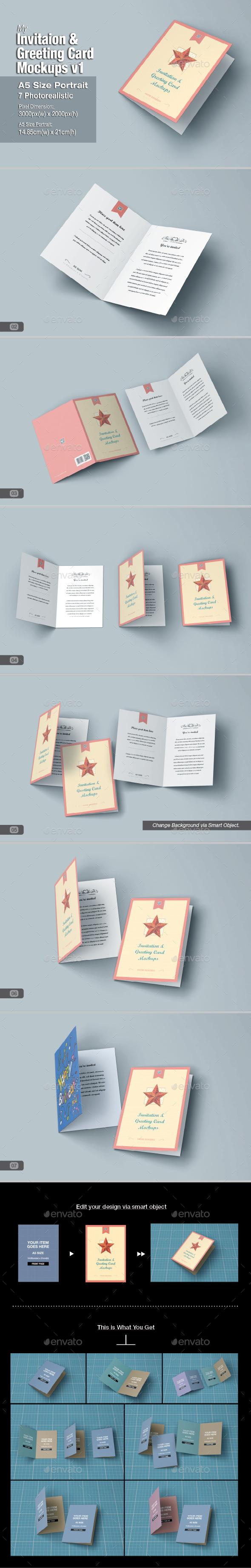 GraphicRiver myGreeting Card Mock-up v1 10988284