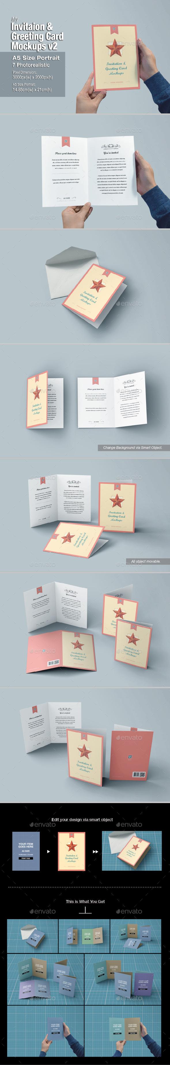 GraphicRiver myGreeting Card Mock-up v2 10988459