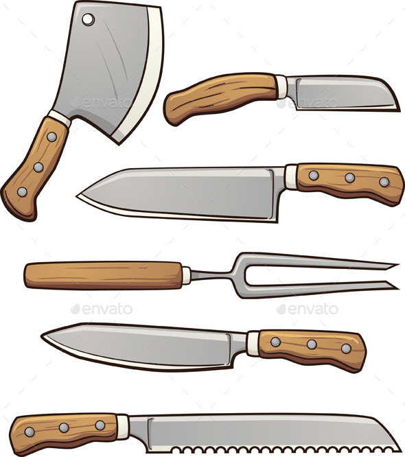 GraphicRiver Kitchen Knives 10988535