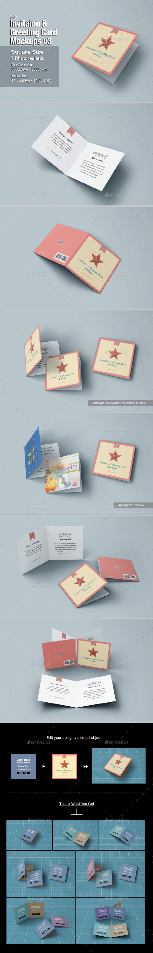 GraphicRiver myGreeting Card Mock-up v3 10988545