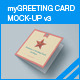 myGreeting Card Mock-up v3 - GraphicRiver Item for Sale