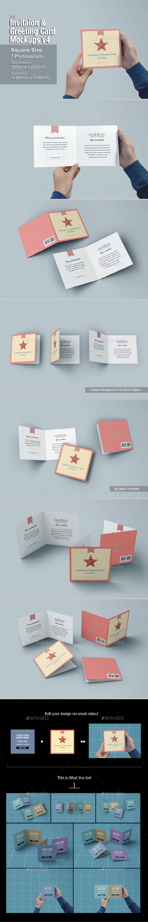 GraphicRiver myGreeting Card Mock-up v4 10988592