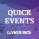 QuickEvents Responsive Unbounce Landing Page - ThemeForest Item for Sale