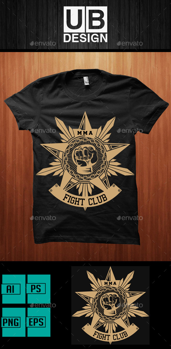 GraphicRiver Mix Martial Art T-Shirt Design 10988611