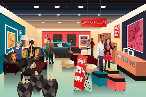 GraphicRiver People Shopping 10988612