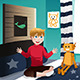Boy Playing in Room  - GraphicRiver Item for Sale