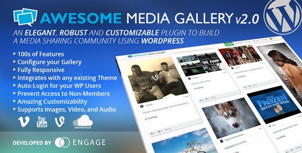 Awesome Media Gallery WordPress Plugin