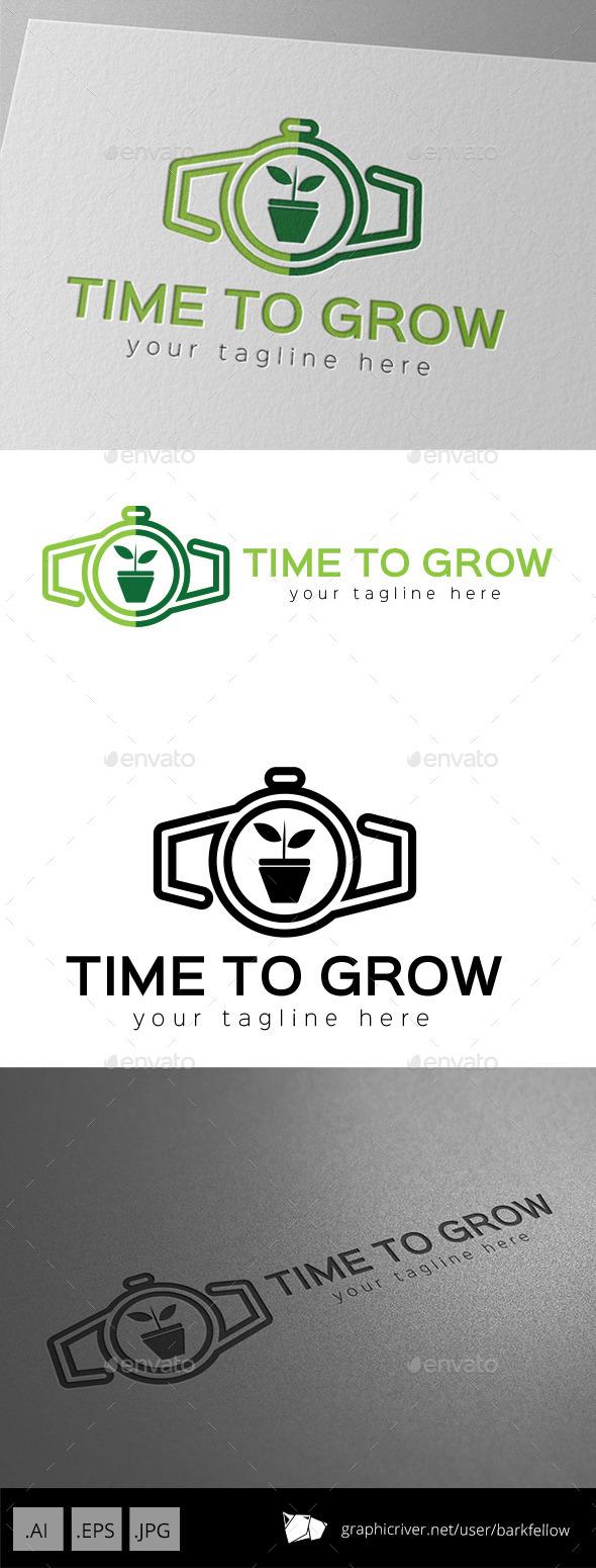 GraphicRiver Time to Grow Logo Design 10988986