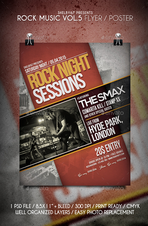 GraphicRiver Rock Music Flyer Poster Vol.5 10989183