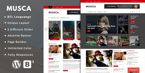 ThemeForest Musca Responsive Theme for News Magazine 10884714