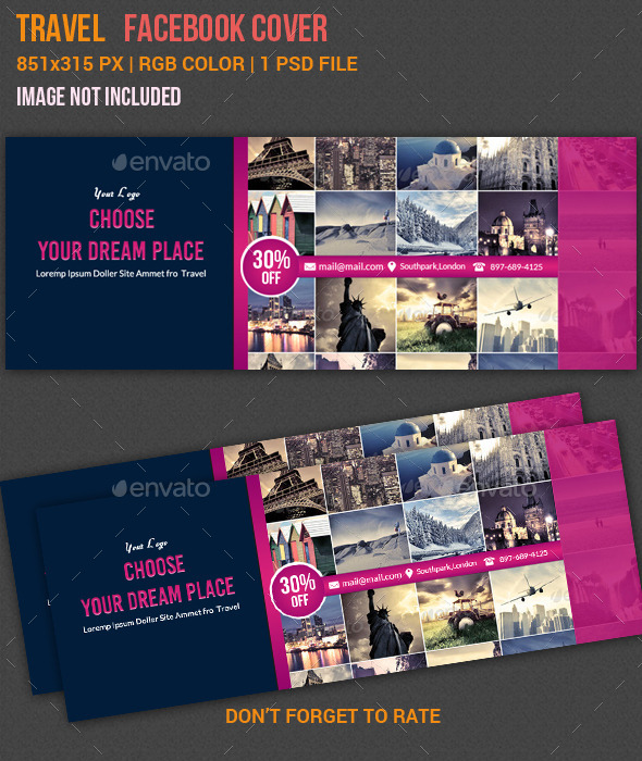 GraphicRiver Travel Facebook Timeline Cover 10989517