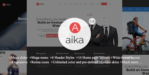 ThemeForest Aaika Multipurpose Drupal Theme 10989900