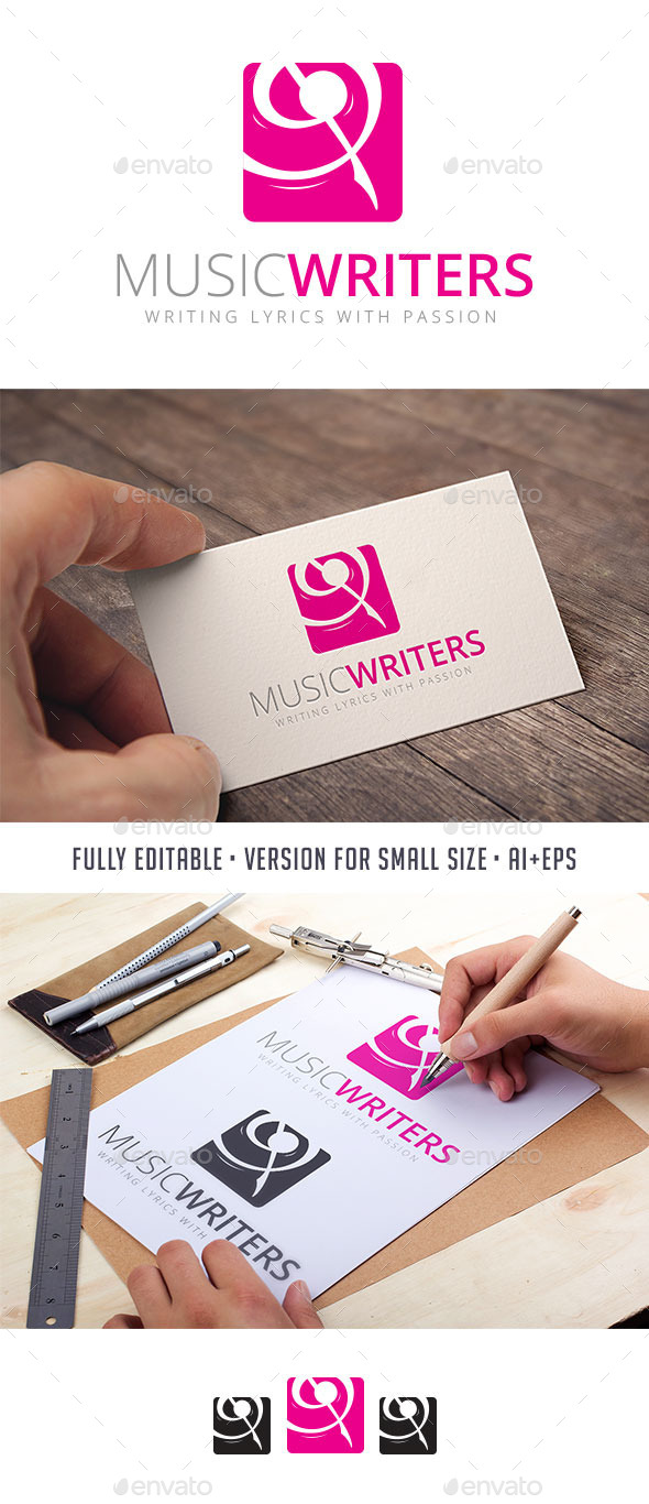 GraphicRiver Music Writers Logo 10990044