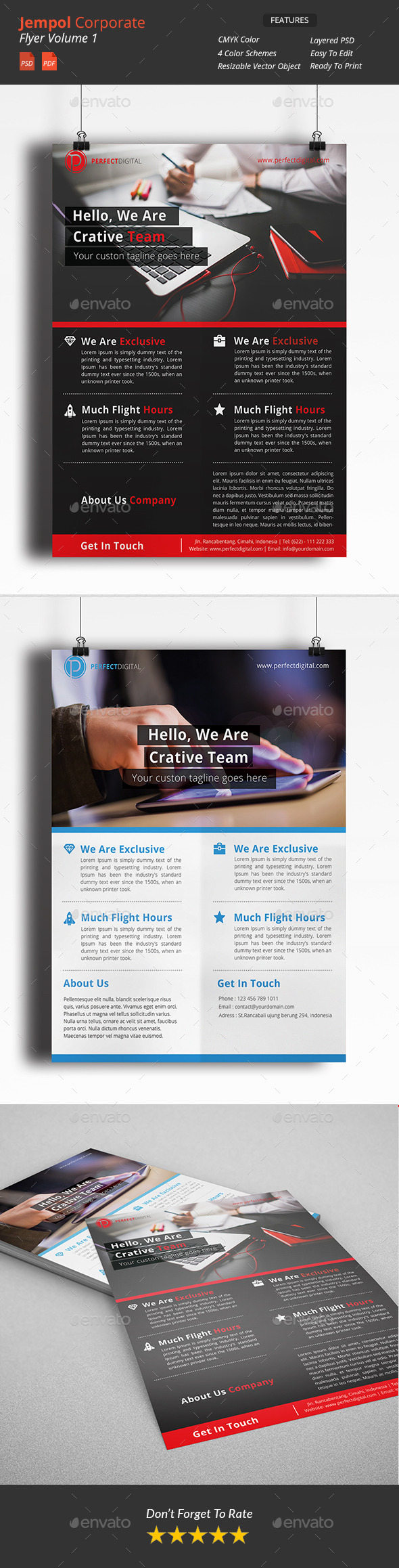 GraphicRiver Jempol Clean Corporate Flyers 10934483