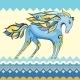 Creative Blue Horse Illustration  - GraphicRiver Item for Sale