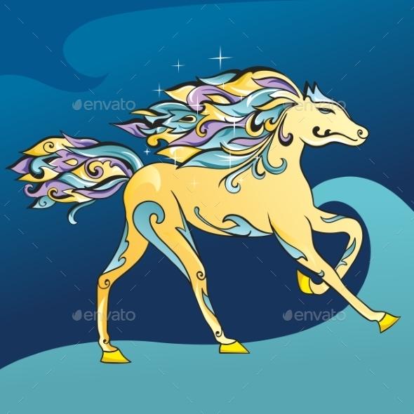 GraphicRiver Arabic Horse Vector Illustration 10990674