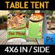 Pizza Restaurant Table Tent Template - GraphicRiver Item for Sale
