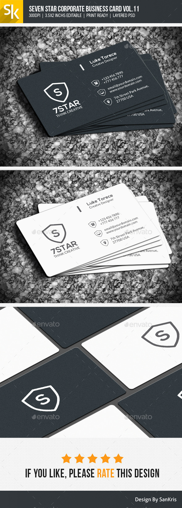 GraphicRiver Seven Star Corporate Business Card Vol.11 10990900