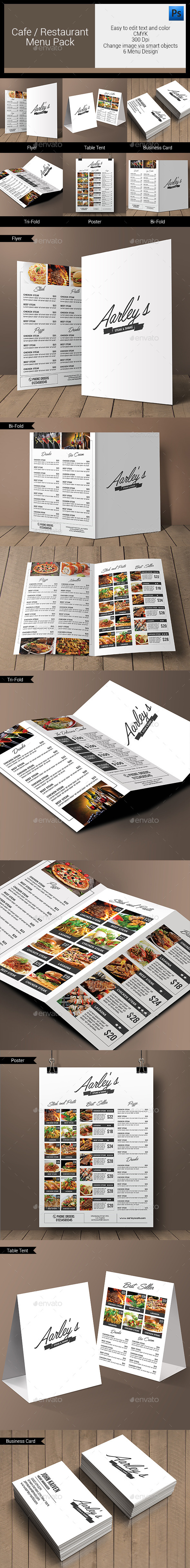 GraphicRiver Simple Restaurant Menu Pack 10990907