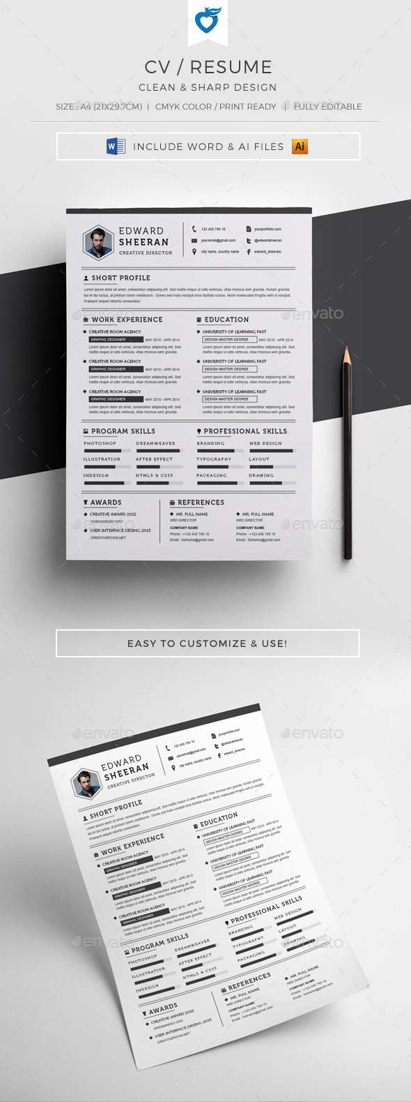 GraphicRiver CV RESUME 10990917