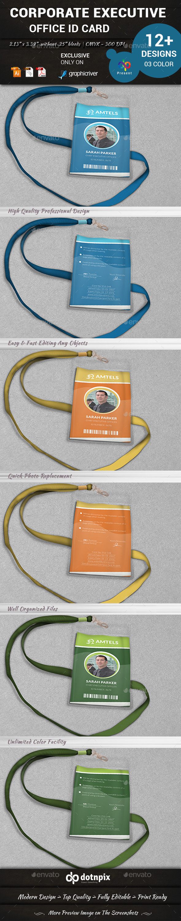GraphicRiver Corporate Executive Office ID card 10991084