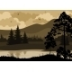 Landscape, Trees, Mountains and River - GraphicRiver Item for Sale