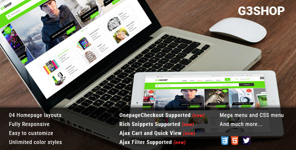 ThemeForest G3Shop Multipurpose Magento Theme 10928175