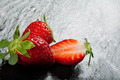 Ripe red strawberries on a slate background - PhotoDune Item for Sale