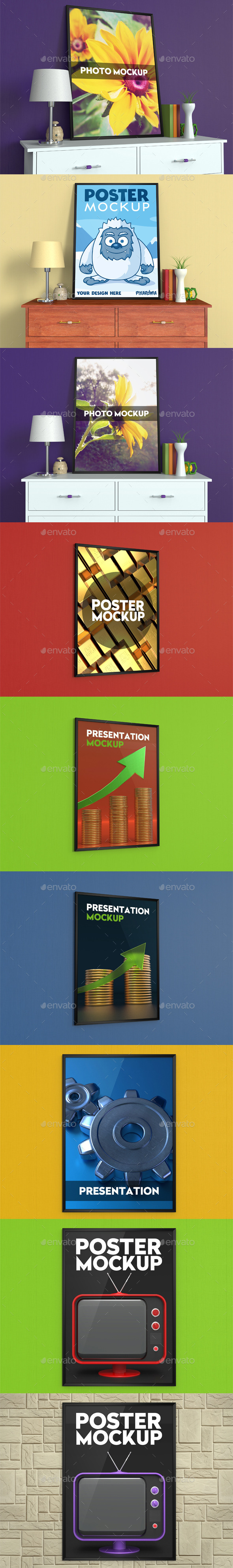 GraphicRiver Poster and Photo Mockup 10991668