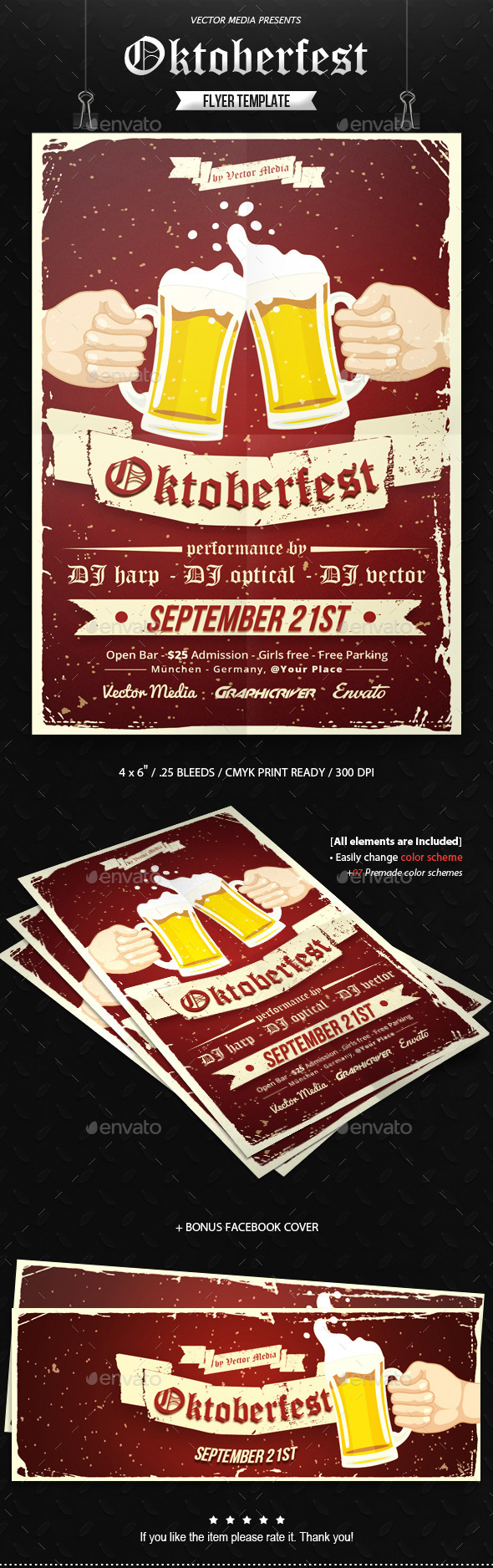 GraphicRiver Oktoberfest Flyer 10927659