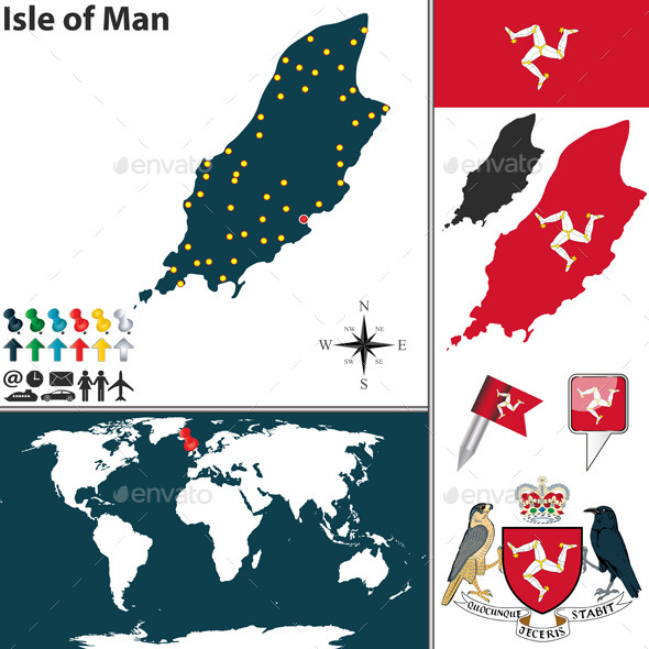 GraphicRiver Map of Isle of Man 10991746
