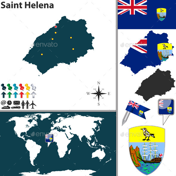 GraphicRiver Map of Saint Helena Island 10991755