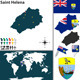 Map of Saint Helena Island - GraphicRiver Item for Sale