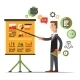 Businessman Gives a Presentation or Seminar. - GraphicRiver Item for Sale