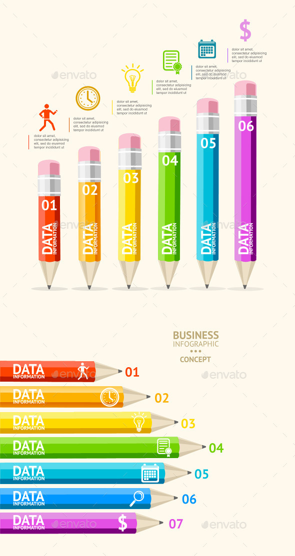 GraphicRiver Pencil Infographic 10991776
