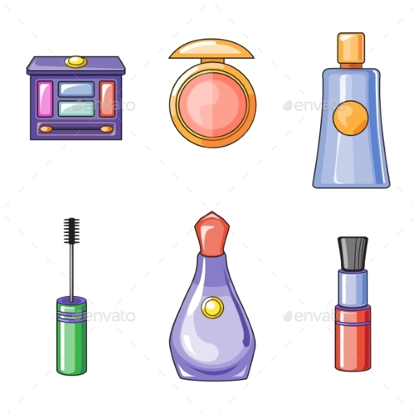 GraphicRiver Set of Flat Beauty and Makeup Icons 10991780