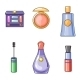 Set of Flat Beauty and Makeup Icons - GraphicRiver Item for Sale