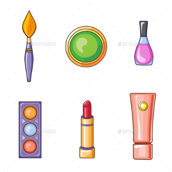 GraphicRiver Set of Flat Beauty and Makeup Icons 10991781
