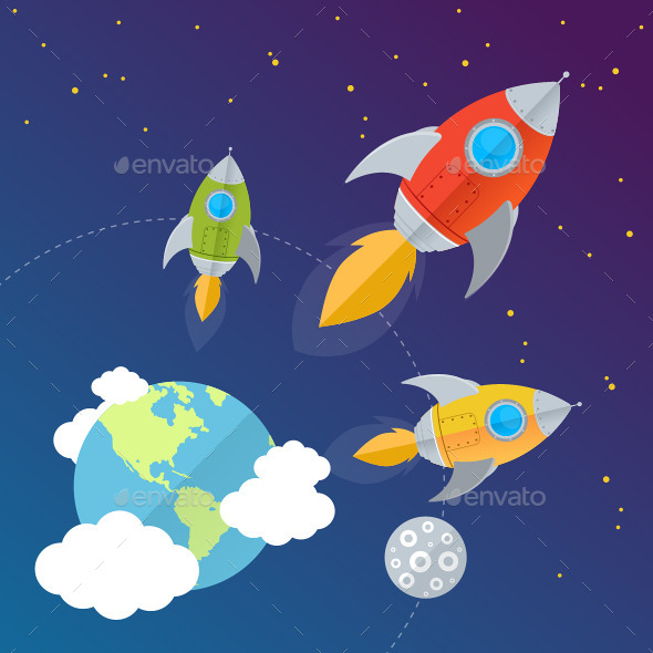 GraphicRiver Rockets 10991797