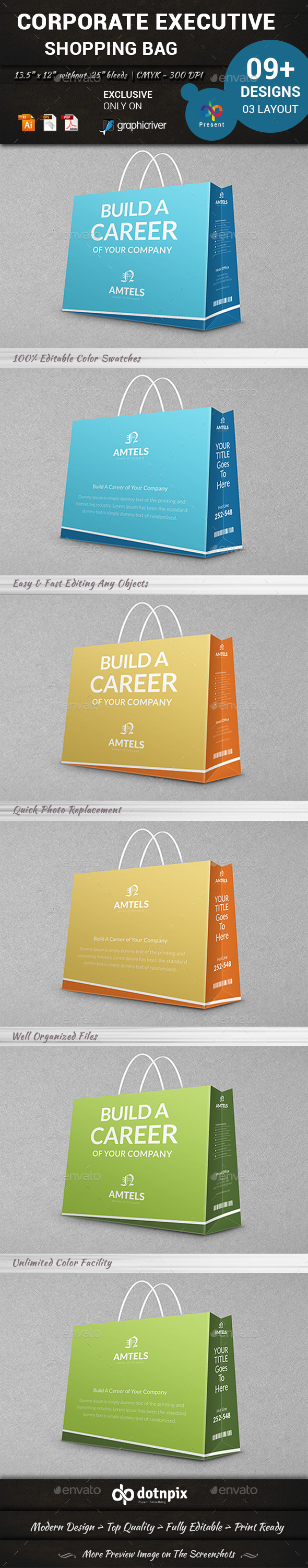 GraphicRiver Corporate Executive Shopping Bag 10992029
