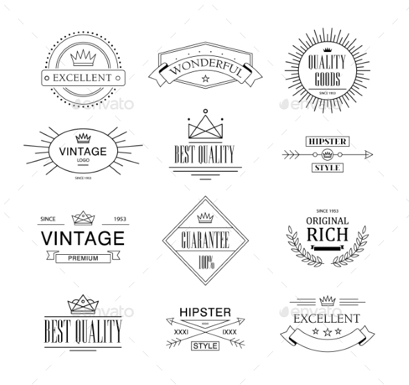 GraphicRiver Label and Vintage Premium Quality Collection 10992349
