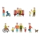 Older People In Different Situations Isolated  - GraphicRiver Item for Sale
