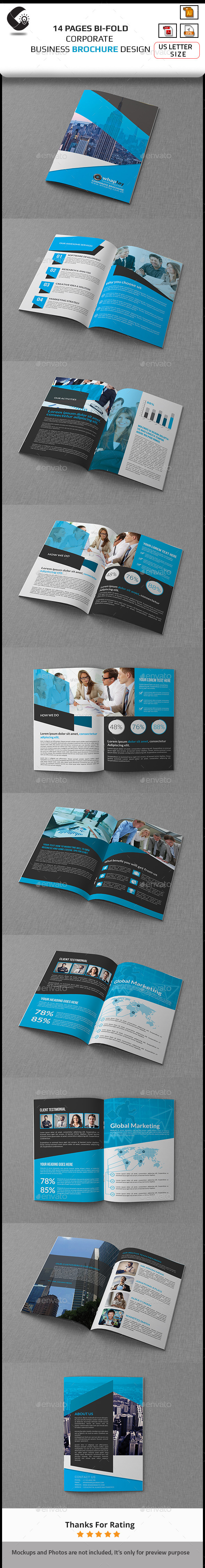 GraphicRiver Bi-Fold Clean Business Brochure 10992419