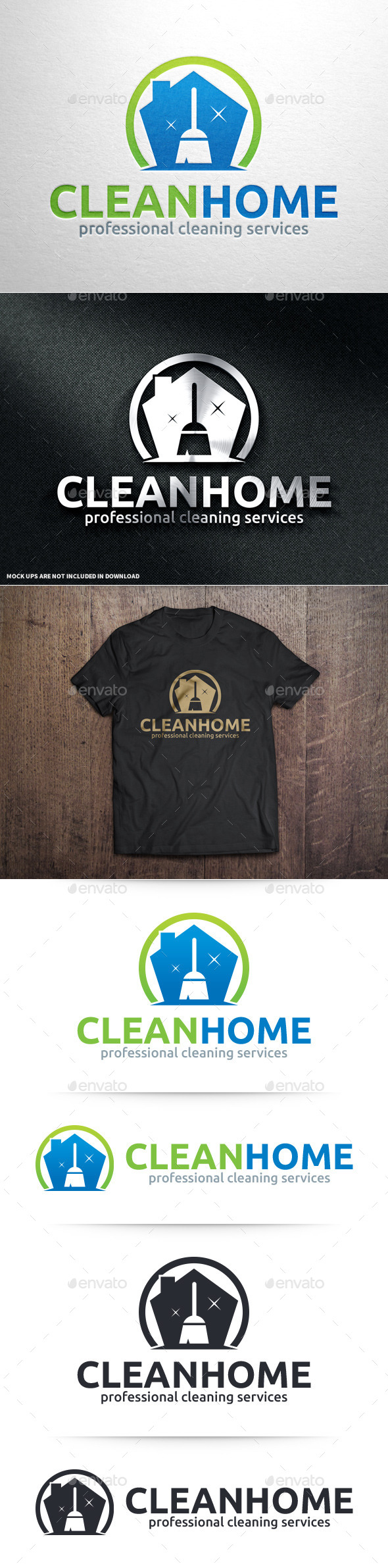 GraphicRiver Clean Home Logo Template 10992473