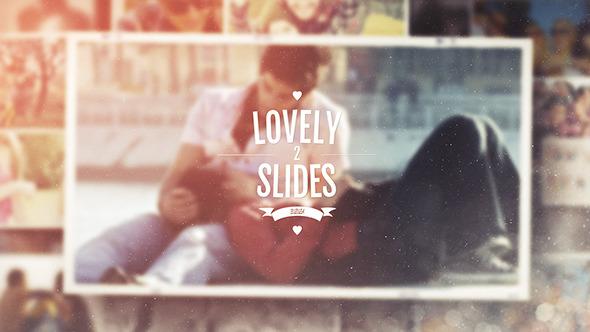 AE模板:浪漫复古婚纱相册 胶卷风格 幸福婚礼照片 爱情故事幻灯片展示模板Lovely Slides II
