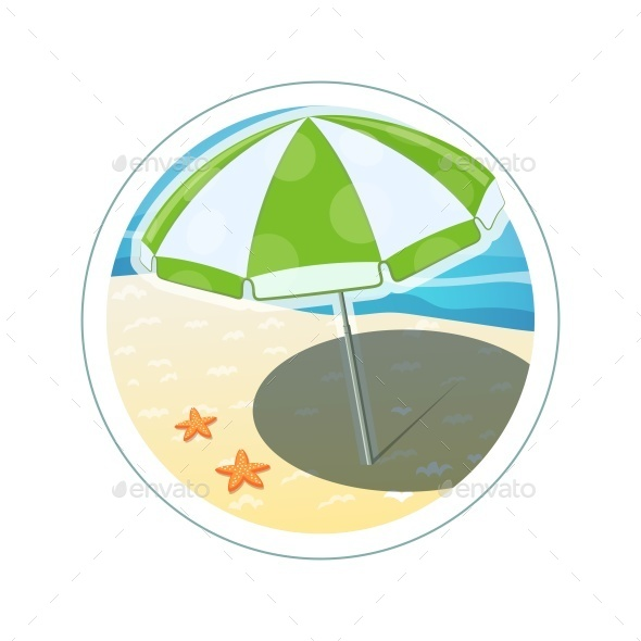 GraphicRiver Beach Umbrella 10992599