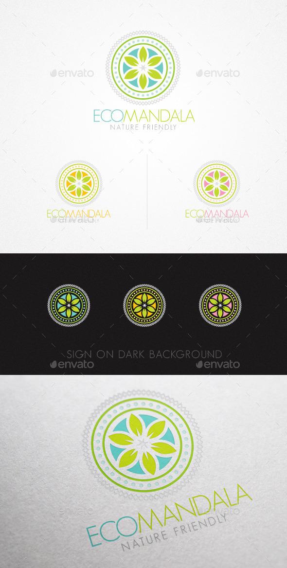 GraphicRiver Eco Mandala Holistic Natural Creative Logo 10993259