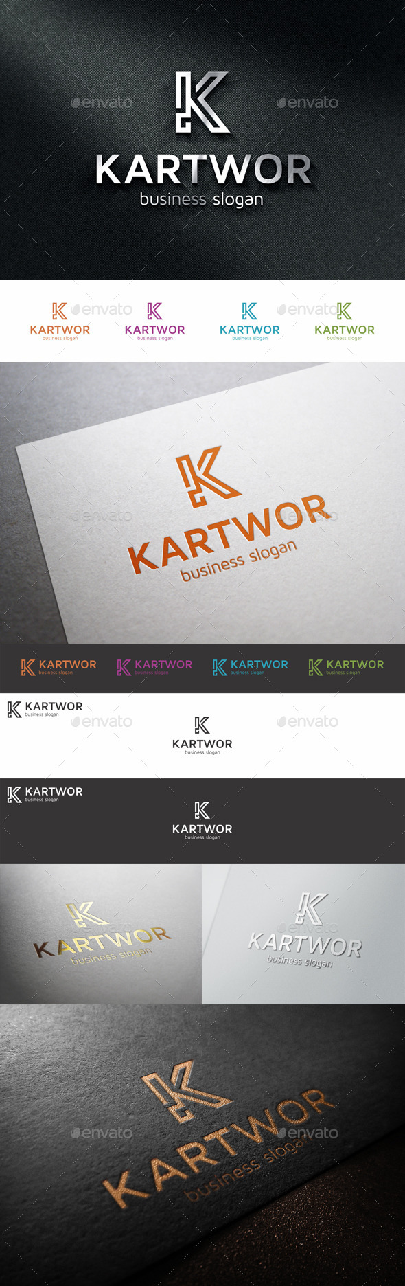 GraphicRiver K Logo Monogram Letter 10993382