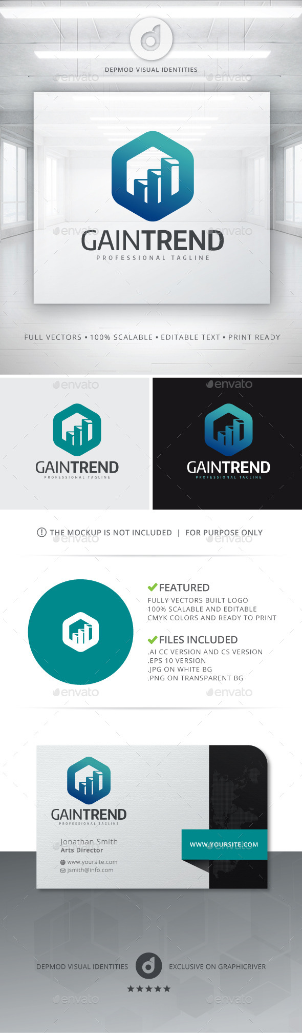 GraphicRiver Gain Trend Logo 10993512